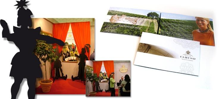 Baglio Caruso - Progettazione stand Vinitaly e brochure dei vini. Realizzazione: Agenzia Verde