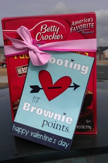 They Are Crafty: Brownie Points Valentine