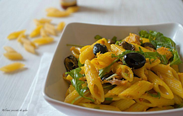 Insalata di pasta allo zafferano - Ricetta profumatissima e light