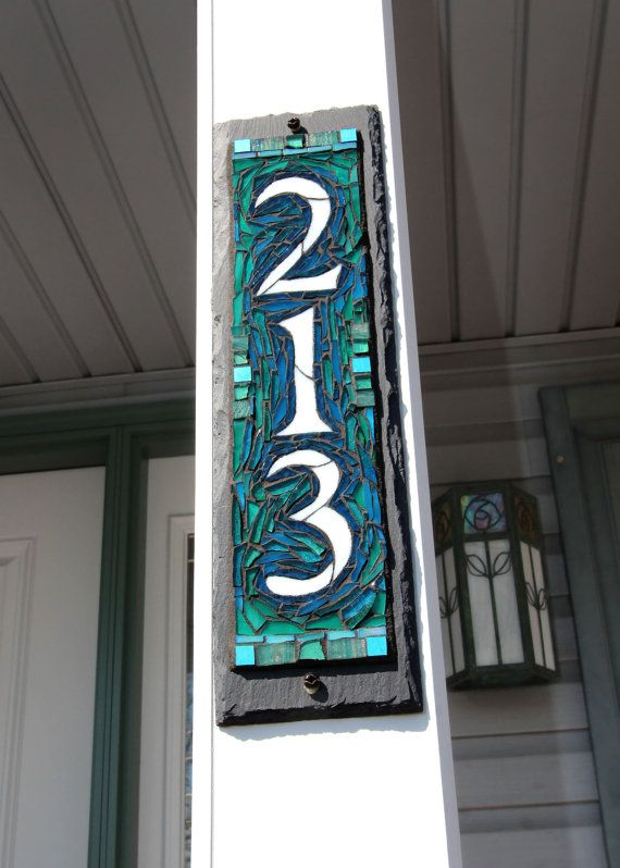132 Best House Numbers By Nutmeg Designs Images On Pinterest House