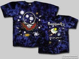 Grateful Dead - Space Your Face Tie Dye T-Shirt  Very trippy Space Your Face design on both sides of this tie dye Grateful Dead short sleeve T-Shirt. Officially licensed Grateful Dead merchandise. One of the coolest looking Grateful Dead T-Shirts that we carry.  #sunshinedaydream #hippieshop