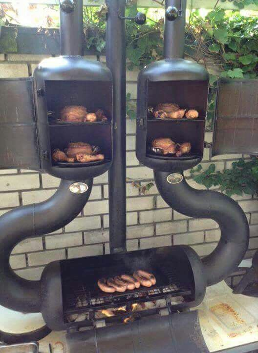 Awesome grill/smoker combo