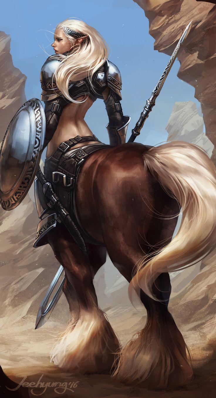 En la mitología griega, el centauro (en griego Κένταυρος Kentauros, 'matador de toros', 'cien fuertes', plural Κένταυρι Kentauri; en latín Centaurus/Centauri) es una criatura con la cabeza, los brazos y el torso de un humano y el cuerpo y las patas de un caballo. Las versiones femeninas reciben el nombre de centáurides.