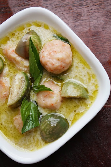 Shrimp dumplings in green curry from She Simmers, my favorite Thai food blog.