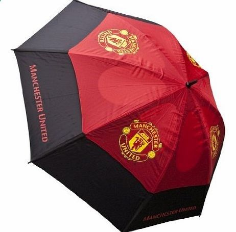 Manchester United F.C. Manchester United Tour Vent Golf Umbrella - Red/Black Golf Umbrella in Team Colours<b>Features</b> Highly engineered, wind resistant double canopy umbrella Specia (Barcode EAN = 5060145882515) www.comparestorep...