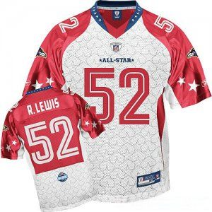 $25.00 2009 Pro Bowl NFL Jersey Baltimore Ravens Ray Lewis #52 White