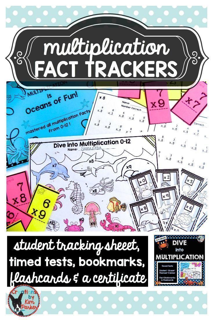 Best 25 memorizing multiplication facts ideas on pinterest dive into multiplication timed tests and trackers unit was created to help students keep track gamestrikefo Gallery