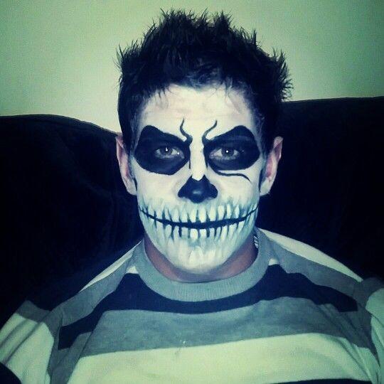 Male skull makeup