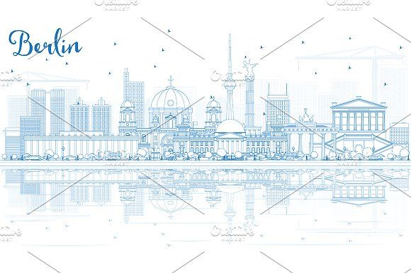 #Outline #Berlin #Skyline by Igor Sorokin on @creativemarket