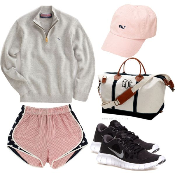 """It's a long drive to Vineyard Vines"" by thepreppyblonde on Polyvore"