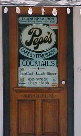 Found this little place in Key West.  It's tucked away on a back street and appears to be a dive but...Best steak ever and a Margarita to DIE for. (or as we were told best one on the island.)