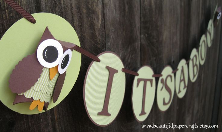 Owl Baby Shower Banner--It's A Boy Owl Banner- Custom Owl NAME Banner - Baby Shower Decorations. $24.00, via Etsy.