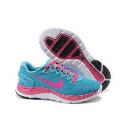 Nike LunarGlide+ 4 Shield Damesko Blå Pink