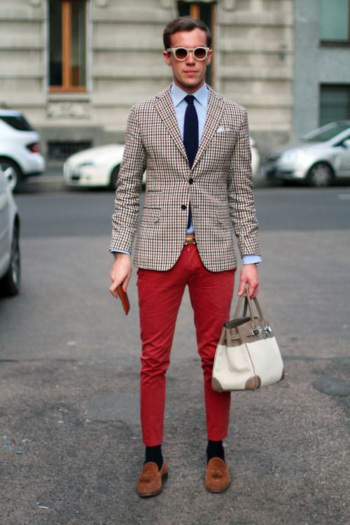 I want a boy with some tight pants and cheeeecked... jacket.