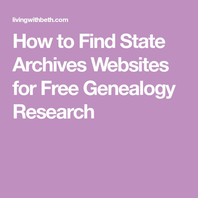 How to Find State Archives Websites for Free Genealogy Research