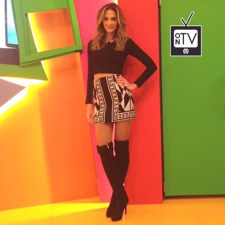 Ready to copy this sharp look of Aleka Kamila, wearing #MIGATO VG374-L14 Over-the-Knee Sued Boots.
