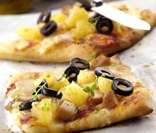 Pizza poulet au curry et ananas - Pizza poulet ananas curry : Version Femina