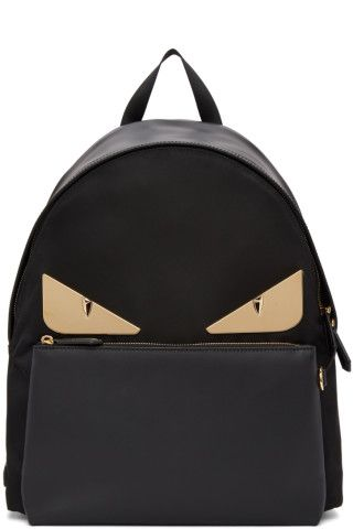 Fendi - Black   Gold  Bag Bugs  Backpack  1affbeaffc46a