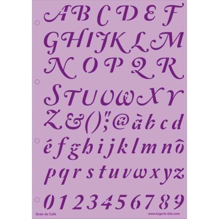 Pochoir alphabet, jolies lettres                                                                                                                                                                                 Plus