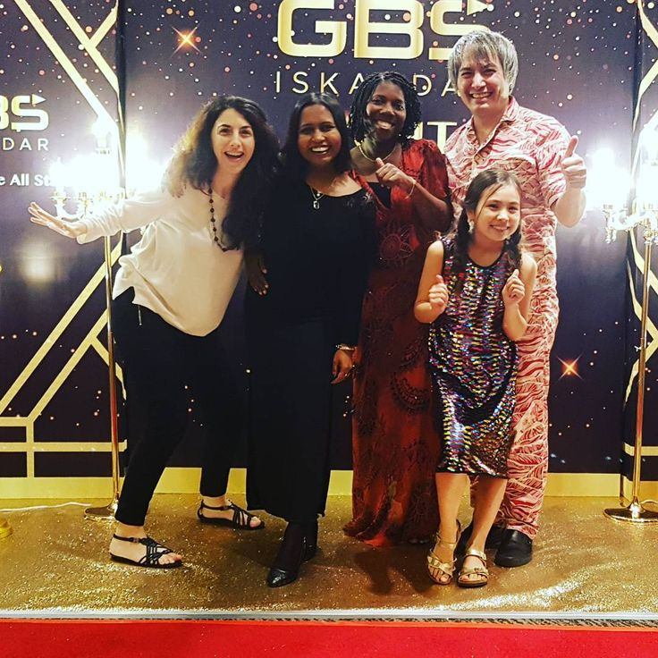 Great to be with our lab members Dr Bosede Dr Chamari Dr Stefania at GBS Iskandar night!!!