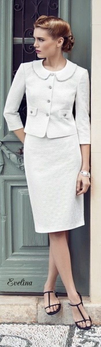 Best 25  White skirt suit ideas on Pinterest | Skirt suit, Skirt ...