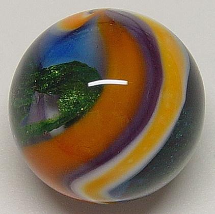 a handmade marble