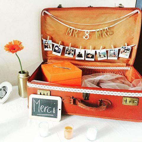 La jolie urne réalisée par mes copines d'amour ❤️! L'idée était de nous aider à boucler nos valises pour faire un beau voyage ! Résultat nous partons à l'île Maurice ☀️! Encore un grand merci aux filles pour ce joli cadeau et à tous nos invités pour votre participation à ce magnifique voyage ❤️ #wedding #weddingphotographer #inspiration #mariage #honeymoon #voyagedenoces #voyagedereve #bride #groom #merci #mauritius
