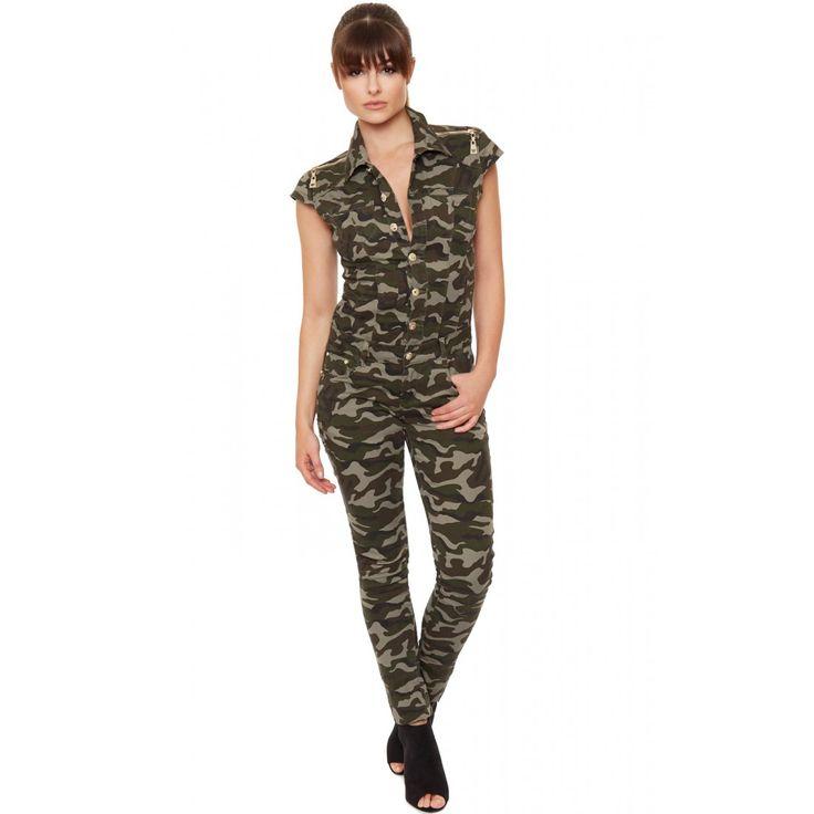 Joleen Camouflage Jumpsuit