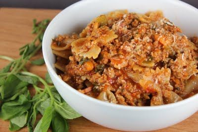 tonight's dinner brought to you by: hearty fall bolognese sauce