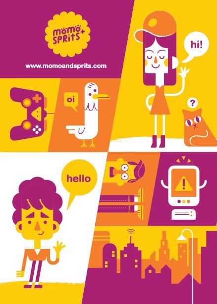 Promo Prints by Momo & Sprits, via Behance