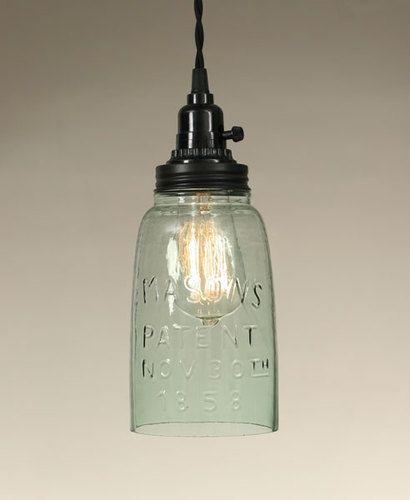 half gallon mason jar pendant lamp light