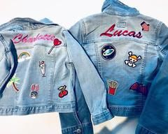 69887816db7 Custom Kids Name Patch Denim Jean Jacket. These jackets are fully  customizable from the embroidered name to the theme of the patches.