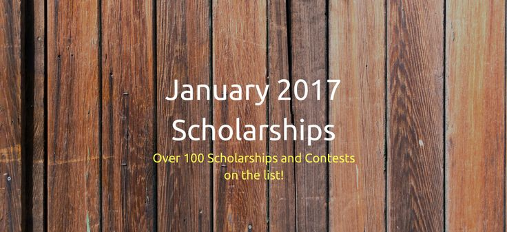 Big list of January Scholarships. There are scholarships on the list for students in elementary school, middle school, high school, college, and graduate school.