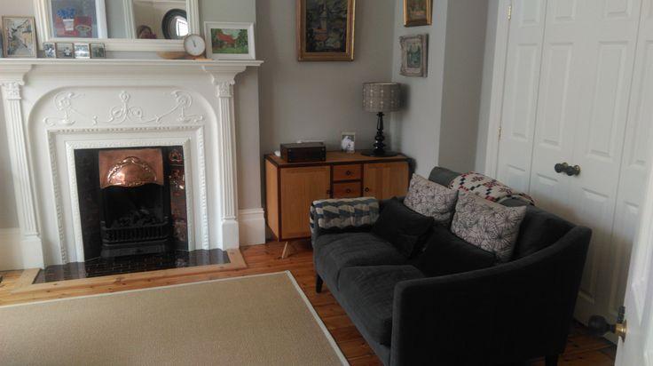 art nouveau original fireplace
