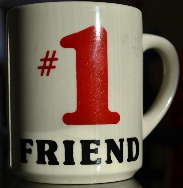 No. 1 Friend Vintage Mug. $5.99, via Etsy.