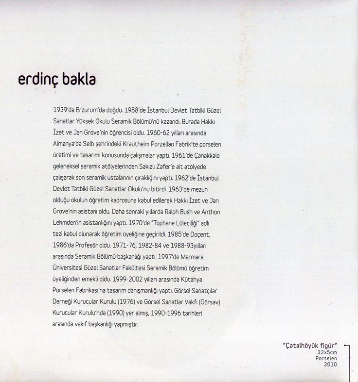 """Erdinç Bakla """"ZAMANIN İZİNDE"""" Çağdaş Seramik Sergisi, 2012 (Erdinç Bakla archive)"""