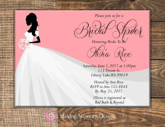 Bride's Dress  Bridal Shower Invitation by MakingMemoryDesign