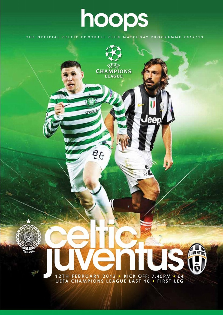 Match programme cover for tomorrow's Champions League last ...