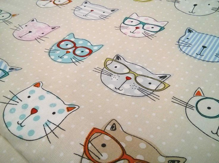 'Cool Cats' Fabric