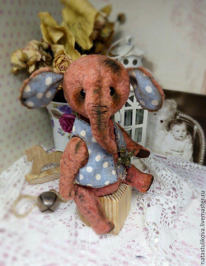 Купить Выкройка слоника тедди Сантик - выкройка слоника тедди, выкройка слоника