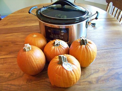How to cook a pumpkin to get homemade pumpkin puree!!  Both Crockpot and Oven methods