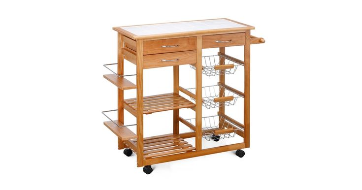 Buy Ovela Ceramic Top Kitchen Storage Trolley & Workbench from Kogan.com. Keep important ingredients and utensils within easy reach using this stylish ceramic-top trolley. Store vegetables, pasta, utensils and more in the storage compartments Keep spices in the dedicated spice rack Prepare food on the ceramic counter top Add extra storage and bench space to your kitchen with the Ovela Ceramic Top Kitchen Storage Trolley & Workbench. Fill the t....