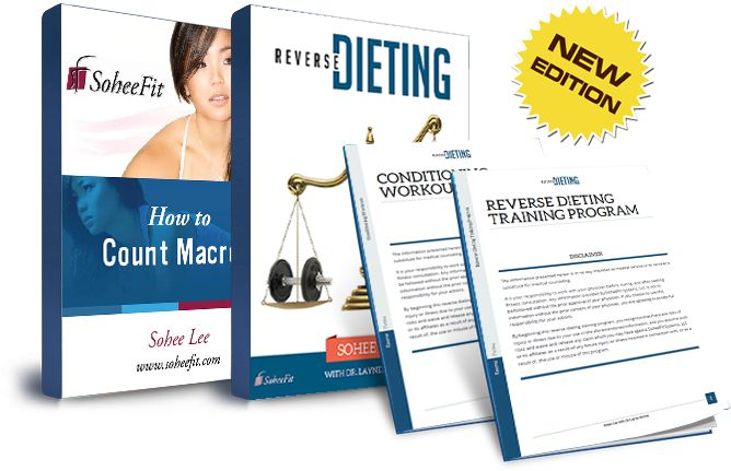 The Reverse Dieting e-book teaches you how to wean yourself off of a fat loss stint, safely bring your calories back up, and bring your metabolism back to working order while minimizing fat gain.