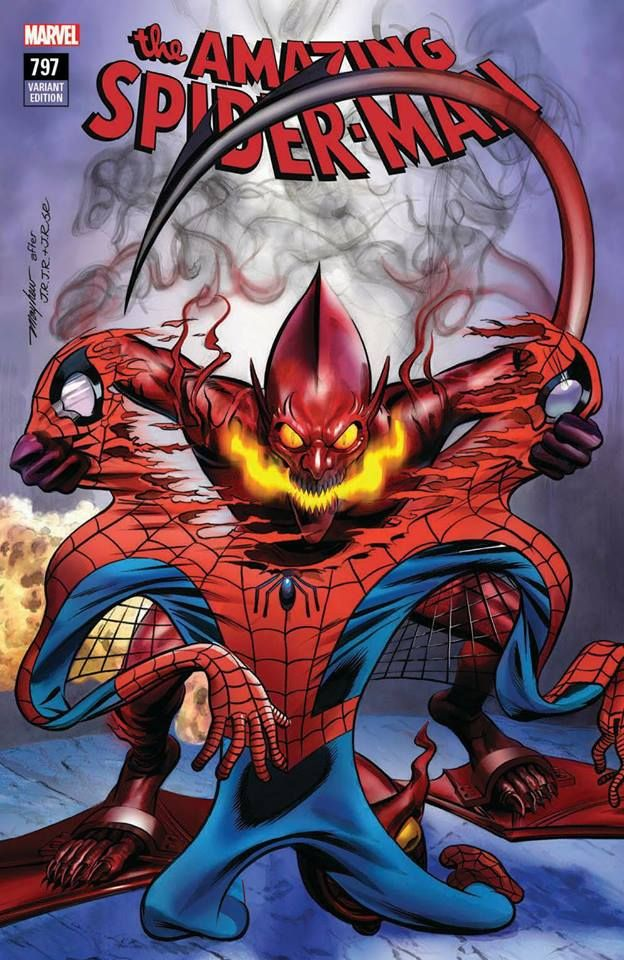 AMAZING SPIDER-MAN #797 2ND PRINT VARIANT COVER RED GOBLIN MARY JANE