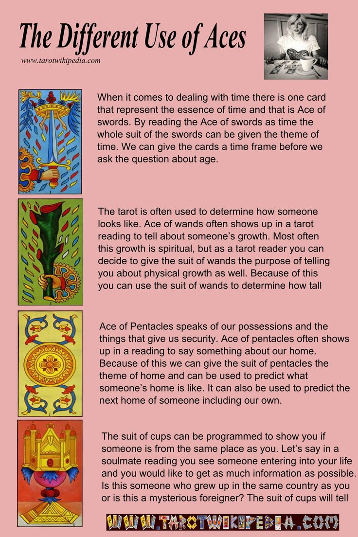 The Different Use Of The Tarot Aces #tarot #aces