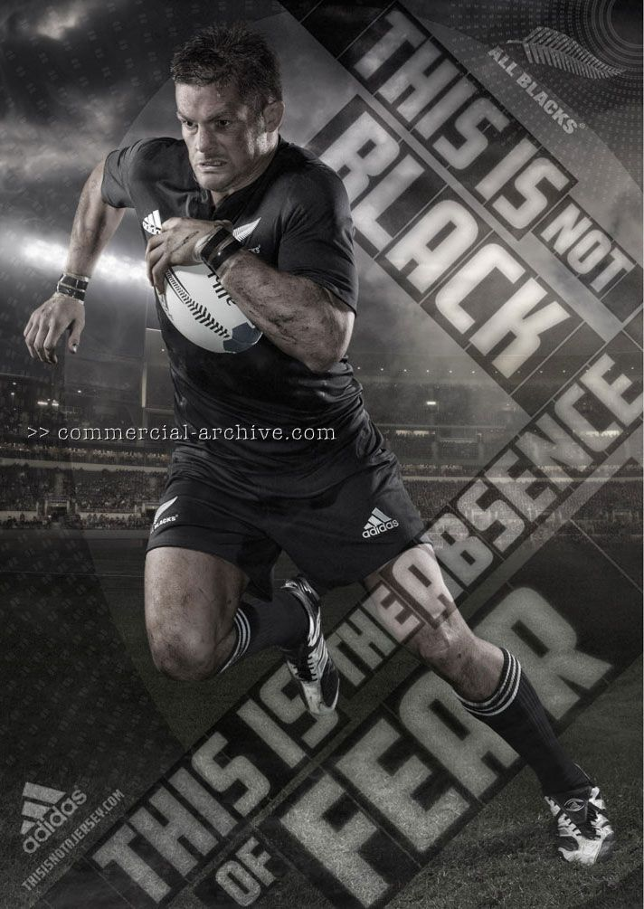 """Adidas - All Blacks """"this is not a Jersey"""" - print and online campaign, New Zealand print 