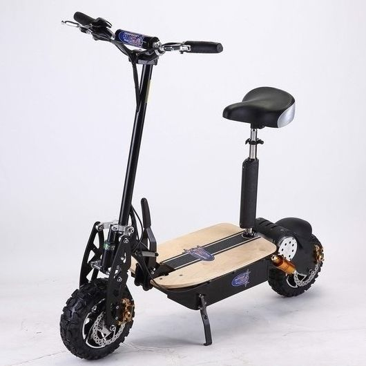 Brushless Motor Electric Scooter in Black 2000W 60V | Buy Motorised Scooters