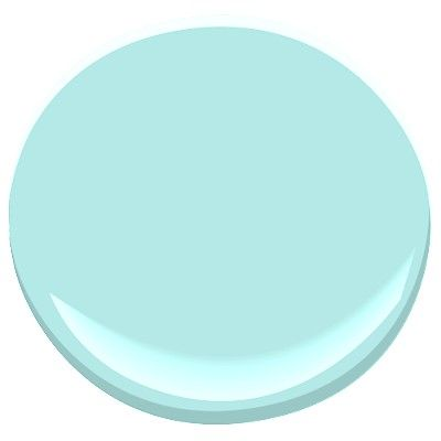 Benjamin Moore jamaican aqua 2048-60. So I would love this for either the bathroom or the baby's room,  but I suspect I'll be overruled on that...