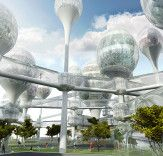 Planning Korea unveils plans for futuristic pod city in the middle of Paris   Inhabitat - Sustainable Design Innovation, Eco Architecture, Green Building