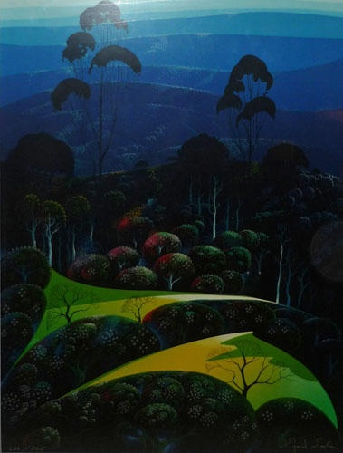 Eyvind Earle - Inland from the Sea